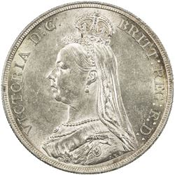 GREAT BRITAIN: Victoria, 1837-1901, AR crown, 1887. AU