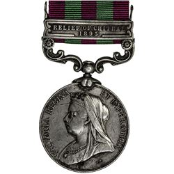 GREAT BRITAIN: Victoria, 1837-1901, AR military medal. F-VF