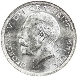 GREAT BRITAIN: George V, 1910-1936, AR 1/2 crown, 1915. NGC MS64