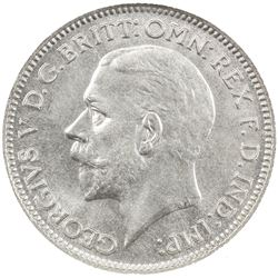 GREAT BRITAIN: George V, 1910-1936, AR sixpence, 1934. NGC MS65