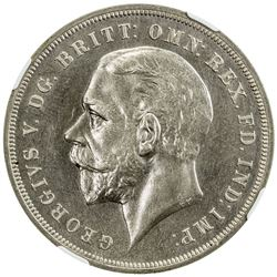 GREAT BRITAIN: George V, 1910-1936, AR crown, 1935. NGC SP