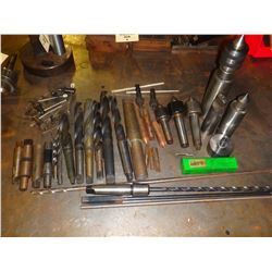 Lot of Misc Drill Bits, Holders, Cutters