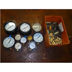 Lot of Misc Gauges and Plastic Fittings