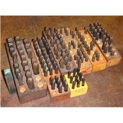Lot of Metal Labeling Punches
