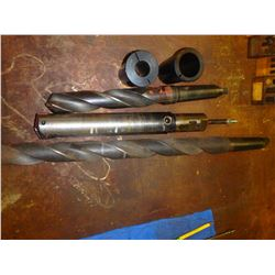 Lot of (5) Misc Drill Bits and Holders
