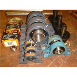 Lot of Pillow Block Bearings & Standard Bearings +