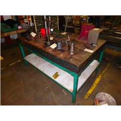 "Steel Work Bench Finishing Table ***TABLE ONLY!*** - Dimensions 72"" x 49"" x 37"""
