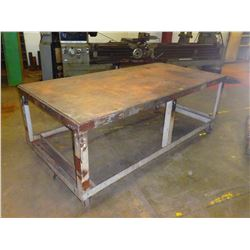 "Steel Rolling Work Bench - Dimensions 96"" x 48"" x 36"""