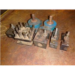 Lot of (7) Lathe Tool Post / Holders & Misc Items