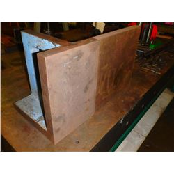 "Lot of (2) Angle Plates - sizes 12"" x 12"" x 12"" and 10"" x 8"" x 12"""
