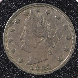 1883 WITH CENTS LIBERTY NICKEL, XF