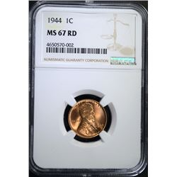 1944 LINCOLN CENT NGC MS-67 RD