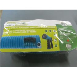 50 ft coiled watering Hose with bonus nozzle