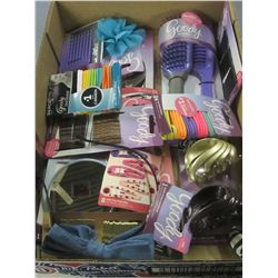 Flat full of New Goody Hair products / ouchless no metal elastics/brushes