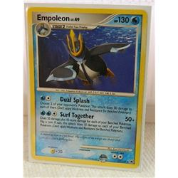 POKEMON COLLECTOR CARD IN PROTECTIVE SLEEVE - EMPOLEON LV.49 - 17/100