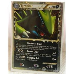 POKEMON COLLECTOR CARD IN PROTECTIVE SLEEVE - TYRANITAR STAGE 2 HOLO - 88/95