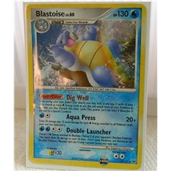 POKEMON COLLECTOR CARD IN PROTECTIVE SLEEVE - BLASTOISE LV.60 HOLO - 2/127