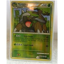POKEMON COLLECTOR CARD IN PROTECTIVE SLEEVE - TORTERRA STAGE 2 REVERSE HOLO - 10/95