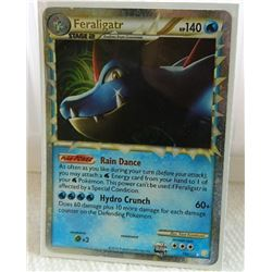 POKEMON COLLECTOR CARD IN PROTECTIVE SLEEVE - FERALIGATR STAGE 2 HOLO - 108/123