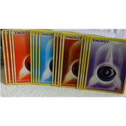 POKEMON COLLECTOR ENERGY CARDS - PSYCHIC(4) + FIGHTING(4) + FIRE(4) + WATER(4) = 16 TTL