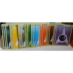 POKEMON COLLECTOR ENERGY CARDS - PSYCHIC(3) + FIGHTING(3) + FIRE(3) + WATER(3) + GRASS (3) + METAL(3