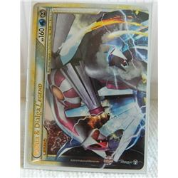 POKEMON COLLECTOR CARD IN PROTECTIVE SLEEVE - Palkia & Dialgia LEGEND (Top) - 101/102 - Rare Holo Le