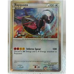 POKEMON COLLECTOR CARD IN PROTECTIVE SLEEVE - RAYQUAZA BASIC REVERSE  HOLO - SL10