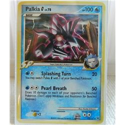 POKEMON COLLECTOR CARD IN PROTECTIVE SLEEVE - PALKIA BASIC  HOLO - 12/127