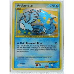 POKEMON COLLECTOR CARD IN PROTECTIVE SLEEVE - ARTICUNO LV.34 BASIC RARE HOLO - 148/147