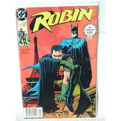 ROBIN - THE ADVENTURE BEGINS - 1 OF 5 - JAN 91 - condition - fold on front - fair - WITH BAG & BOARD