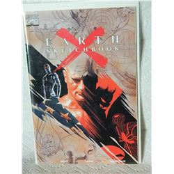 EARTH X SKETCHBOOK - 1999 - NEAR MINT - WITH BAG & BOARD