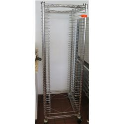 "Tall Wire Sheet Pan Rack w/Caster Wheels 21.5""W x 26""D x 67.5"" H"
