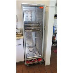 "Full Size Insulated Heated Holding Cabinet/Proofer w/Clear Door, 21"" W, 68"" H"
