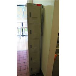 "GSW USA 6-Tier Employee Locker, Model EL-6DR, 12""W X 20.5""D X 77""H"