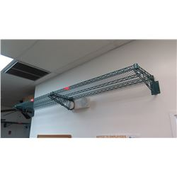 """Qty 2 Winco Wall Mount Wire Shelving - Each Approx. 47"""" X 14"""""""