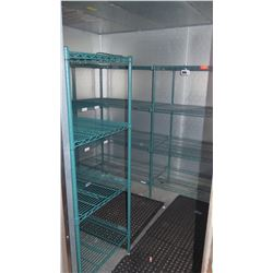 Qty 5 Green Kote Shelves - 4 Tier- Used in Walk In Freezer -Paid $945 on 10/16