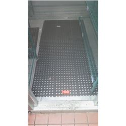 Qty 2 Rubber Safety Mats, Approx.  3' X 6' and 5' X 3'