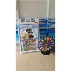 Merchandise Promotional Board and Wheel