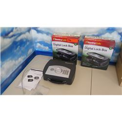 Qty 2 Sentry Safe Small Digital Lock Box (combination will be provided)