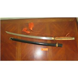 WWII Vintage Samurai Sword, Late or Post-War Fittings, Unsigned, Blade Good Condition