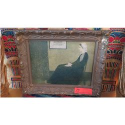 "Reproduction Painting of Whistler's ""Portrait of the Artist's Mother"" 12.5"" X 15"""