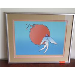 """Encounter"" by Peter Max, Signed, Ltd. Ed. 15 of 175, Circa 1978, Framed/Matted 19"" x 27"""