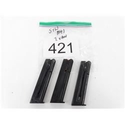 3 Smith and Wesson M41 Magazines