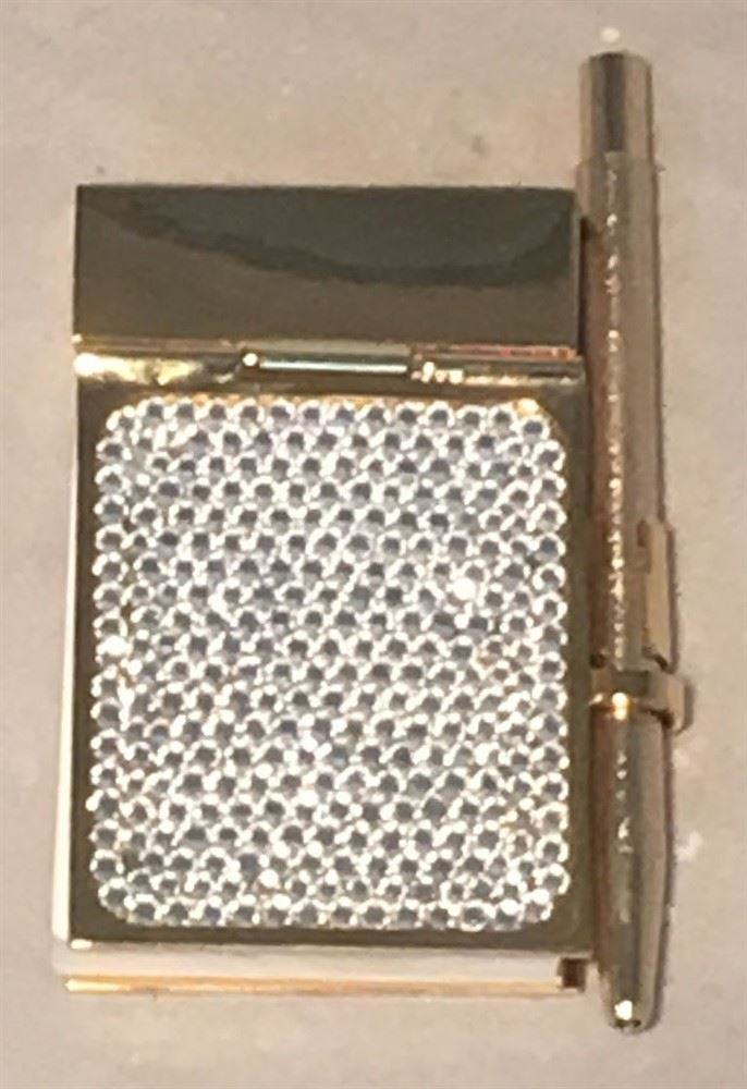 Judith Leiber Vintage Gold And Swarovski Crystal Mini Notepad