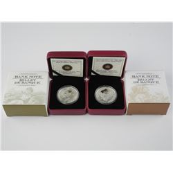 2x RCM .9999 Fine Silver $5.00 and $20.00 Coins
