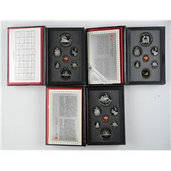 3x Canada Proof Mint Set: Double Dollar, Leather C