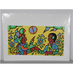 """Norval Morrisseau (1931-2007) """"Heavenly Brothers"""""""