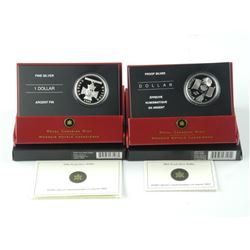 2x RCM Proof Silver Dollars .9999 Fine Silver with
