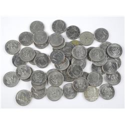 50x USA Kennedy 50 Cent Coins. Mixed Dates