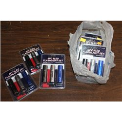 LOT OF FLASHLIGHTS WITH BATTERIES